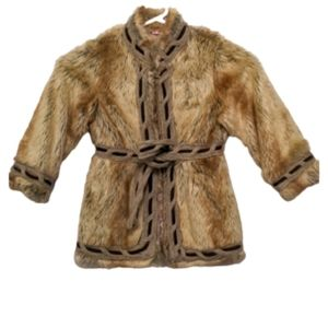 3/$20 The Children's Place Fur Coat Size 4t